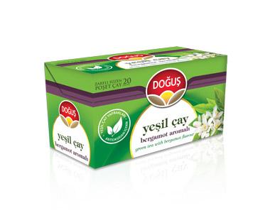 Doğuş Bergamotlu Yeşilçay Poşet Çay 20´li