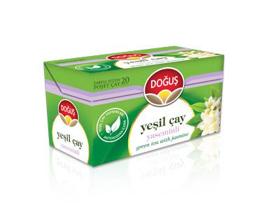 Doğuş Yaseminli Yeşilçay Poşet Çay 20´li