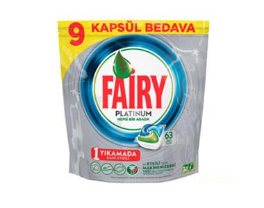 Fairy Platinum Bulaşık Makinesi Deterjanı Kapsülü 63´lü