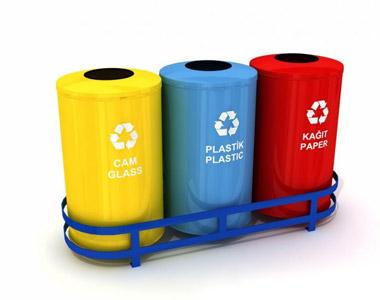 Geri Dönüşüm Çöp Kovaları 3´lü (Plastik)