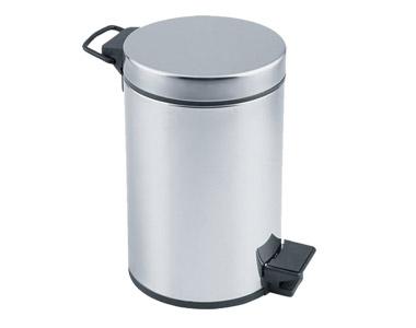 Çöp Kovası Pedallı Krom 12 lt
