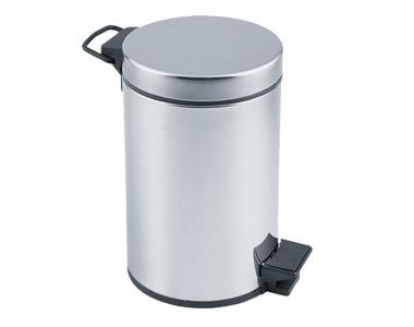 Çöp Kovası Pedallı Krom 5 lt