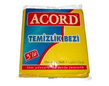 Acord Sarı Temizlik Bezi 3´lü